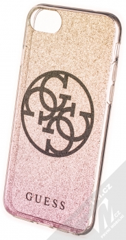 Guess 4G Circle Shining ochranný kryt pro Apple iPhone 7, iPhone 8, iPhone SE (2020) (GUHCI8PCUGLPGG) zlatá růžová (gold pink)