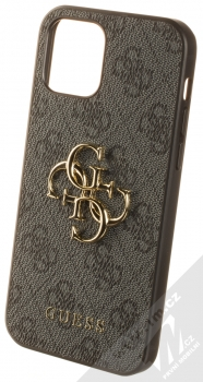 Guess 4G Metal ochranný kryt pro Apple iPhone 12, iPhone 12 Pro (GUHCP12M4GMGGR) šedá (grey)