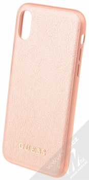 Guess IriDescent Hard Case ochranný kryt pro Apple iPhone X (GUHCPXIGLRG) růžově zlatá (all rose gold)