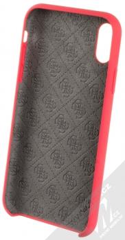 Guess Silicone Logo ochranný kryt pro Apple iPhone XR (GUHCI61LSGLRE) červená (red) zepředu