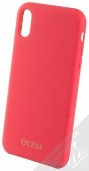 Guess Silicone Logo ochranný kryt pro Apple iPhone XR (GUHCI61LSGLRE) červená (red)