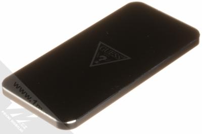 Guess Wireless Charging Base podložka bezdrátového nabíjení černá stříbrná (black silver)
