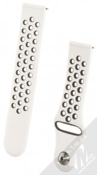 Handodo Double Color Strap silikonový pásek na zápěstí pro Samsung Galaxy Watch 42mm, Galaxy Watch Active, Gear S2 Classic, Gear Sport, Xiaomi Amazfit Bip, Amazfit GTR, Amazfit GTS bílá černá (white black)