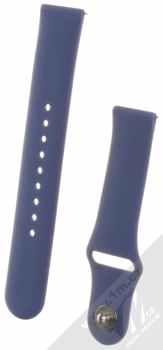 Handodo Single Color Strap silikonový pásek na zápěstí pro Samsung Galaxy Watch Active, Gear S2 Classic, Galaxy Watch 42mm, Gear Sport, Xiaomi Amazfit Bip, Amazfit GTR, Amazfit GTS tmavě modrá (dark blue)