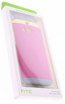HTC HC C940 Double Dip originální ochranný kryt pro HTC One (M8), One M8s růžovo žlutá (pink yellow) krabička