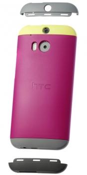 HTC HC C940 Double Dip originální ochranný kryt pro HTC One (M8), One M8s růžovo žlutá (pink yellow)