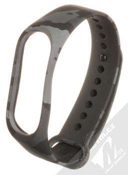 Maikes Camo Strap silikonový pásek na zápěstí pro Xiaomi Mi Band 3, Mi Band 4 šedá (grey)