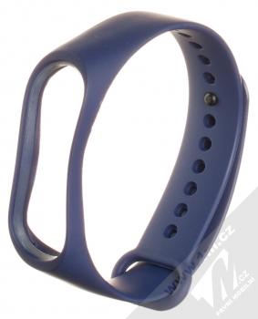 Maikes Color Strap silikonový pásek na zápěstí pro Xiaomi Mi Band 3, Mi Band 4 tmavě modrá (dark blue)