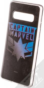 Marvel Kapitánka Marvel 015 TPU ochranný silikonový kryt s motivem pro Samsung Galaxy S10 černá (black)