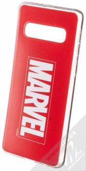 Marvel Logo 001 TPU ochranný silikonový kryt s motivem pro Samsung Galaxy S10 červená (red)
