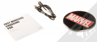 Marvel Logo 002 Fast Wireless Charging Pad podložka pro bezdrátové nabíjení černá (black) balení