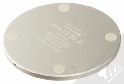 Marvel Logo 002 Fast Wireless Charging Pad podložka pro bezdrátové nabíjení černá (black) zezadu