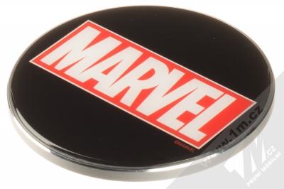 Marvel Logo 002 Fast Wireless Charging Pad podložka pro bezdrátové nabíjení černá (black)