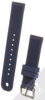 MiJobs Vertical Lines Silicone Wrist Strap silikonový pásek na zápěstí pro Xiaomi Amazfit Bip, Amazfit GTR, Amazfit GTS, Samsung Galaxy Watch 42mm, Galaxy Watch Active, Gear S2 Classic, Gear Spor tmavě modrá (dark blue)