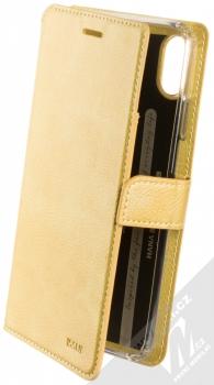 Molan Cano Issue Diary flipové pouzdro pro Apple iPhone XS Max zlatá (gold)