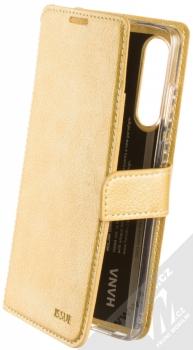 Molan Cano Issue Diary flipové pouzdro pro Huawei P30 zlatá (gold)