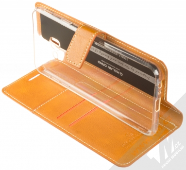 Molan Cano Issue Diary flipové pouzdro pro Samsung Galaxy J4 Plus (2018) hnědá (brown) stojánek