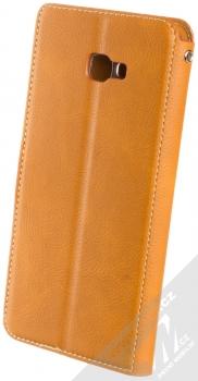 Molan Cano Issue Diary flipové pouzdro pro Samsung Galaxy J4 Plus (2018) hnědá (brown) zezadu