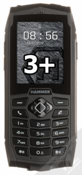 MYPHONE HAMMER 3 PLUS černá (black) zepředu