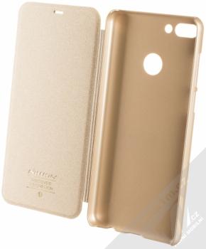 Nillkin Sparkle flipové pouzdro pro Huawei Y9 (2018) zlatá (gold) otevřené