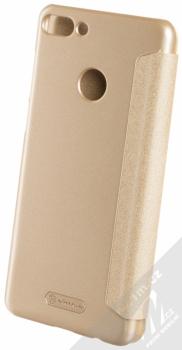 Nillkin Sparkle flipové pouzdro pro Huawei Y9 (2018) zlatá (gold) zezadu