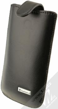 Pierre Cardin SLIM H10-10 vertikální výsuvné kožené pouzdro černá (black)