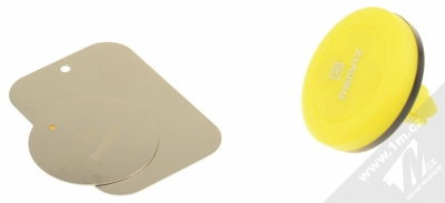 Remax RM-C10 magnetický držák do mřížky ventilace v automobilu pro mobilní telefon, mobil, smartphone, tablet černo žlutá (black yellow) balení