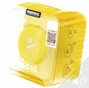Remax RM-C10 magnetický držák do mřížky ventilace v automobilu pro mobilní telefon, mobil, smartphone, tablet černo žlutá (black yellow) krabička