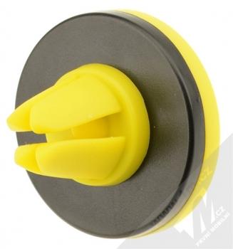 Remax RM-C10 magnetický držák do mřížky ventilace v automobilu pro mobilní telefon, mobil, smartphone, tablet černo žlutá (black yellow) zezadu