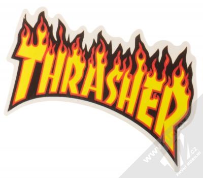 Samolepka Thrasher logo v plamenech 2