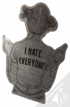 Samolepka Žena nenávidící všechny okolo 1