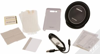 Samsung EP-WG95BBB Starter Kit originální sada stojánku pro bezdrátové nabíjení, ochranného krytu a fólie pro Samsung Galaxy S8 černá černá (black black) balení