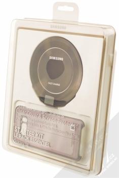 Samsung EP-WG95BBB Starter Kit originální sada stojánku pro bezdrátové nabíjení, ochranného krytu a fólie pro Samsung Galaxy S8 černá černá (black black) krabička