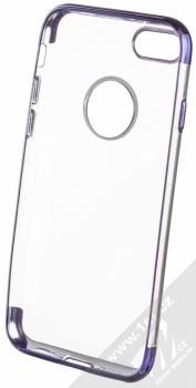 Sligo Plating Soft TPU pokovený ochranný kryt pro Apple iPhone 7, iPhone 8 modrá (blue) zepředu