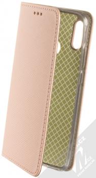 Sligo Smart Magnet flipové pouzdro pro Huawei P Smart (2019) růžově zlatá (rose gold)