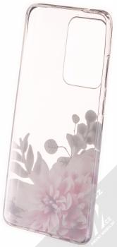 Sligo Trendy Růžová jiřina TPU ochranný kryt pro Samsung Galaxy S20 Ultra průhledná (transparent) zepředu