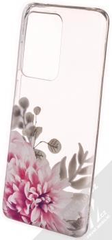 Sligo Trendy Růžová jiřina TPU ochranný kryt pro Samsung Galaxy S20 Ultra průhledná (transparent)