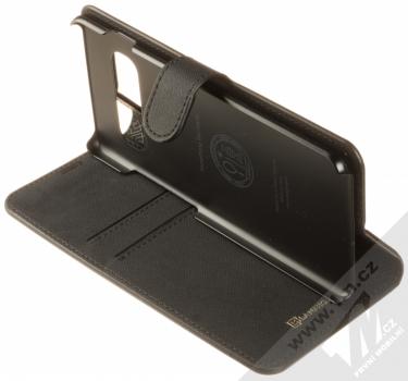 Spigen La Manon Wallet flipové pouzdro pro Samsung Galaxy S10 Plus černá (saffiano black) stojánek