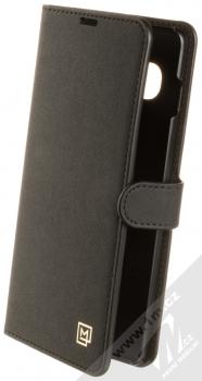 Spigen La Manon Wallet flipové pouzdro pro Samsung Galaxy S10 Plus černá (saffiano black)