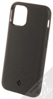 Spigen Mag Armor odolný ochranný kryt s kovovým plíškem pro Apple iPhone 12 mini černá (matte black)