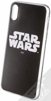 Star Wars Titulní Logo 001 TPU ochranný silikonový kryt s motivem pro Apple iPhone XS Max černá (black)