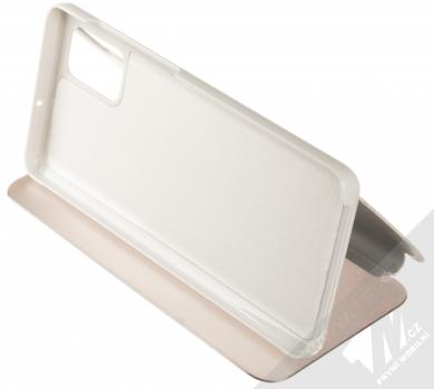 Vennus Clear View flipové pouzdro pro Samsung Galaxy A71 stříbrná (silver) stojánek