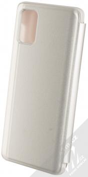Vennus Clear View flipové pouzdro pro Samsung Galaxy A71 stříbrná (silver) zezadu