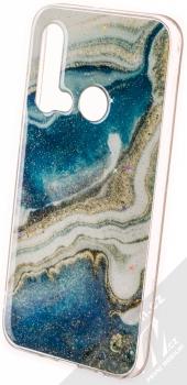 Vennus Stone Case ochranný kryt pro Huawei P20 Lite (2019) modrý achát (blue agate)