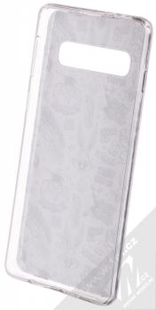 Warner Bros Looney Tunes 004 TPU ochranný silikonový kryt s motivem pro Samsung Galaxy S10 bílá (white) zepředu