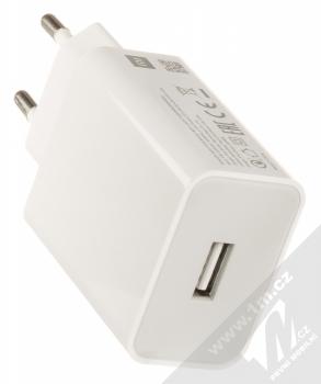 Xiaomi MDY-10-EF originální nabíječka do sítě s USB výstupem 3A a originální USB kabel s USB Type-C konektorem bílá (white) nabíječka USB konektor