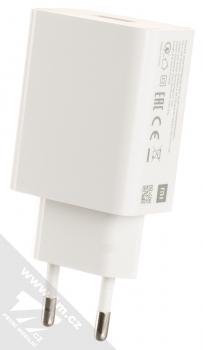 Xiaomi MDY-10-EF originální nabíječka do sítě s USB výstupem 3A a originální USB kabel s USB Type-C konektorem bílá (white) nabíječka USB