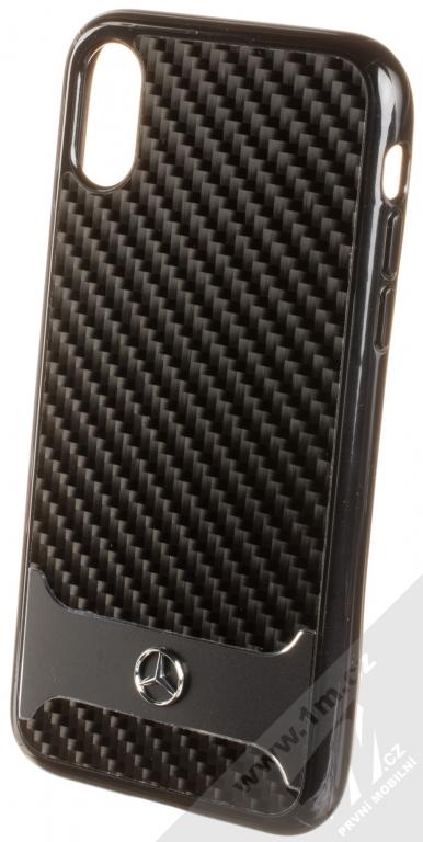 Mercedes Shiny Dynamic Carbon Aluminium ochranný kryt pro Apple iPhone X  (MEHCPXHACABK) černá ( 7713e6a878e