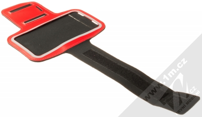 1Mcz Armband2 sportovní pouzdro na paži pro mobilní telefon od 5.0 do 6.0 palců červená (red) rozepnuté