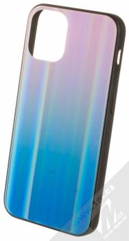 1Mcz Aurora Glass Cover ochranný kryt pro Apple iPhone 12 mini měnivě růžová modrá (iridescent pink blue)
